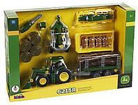 Детский Игровой Развивающий Конструктор для мальчиков Трактор строительный 33 элемента John Deere Klein