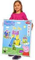Детский Игровой Конструктор для девочек Свинка Peppa Парк развлечений с горкой и фигурками 126 деталей Big Биг