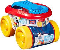 Детский Игровой Конструктор классический в контейнере на колесах 20 больших деталей Mega Bloks First Builders