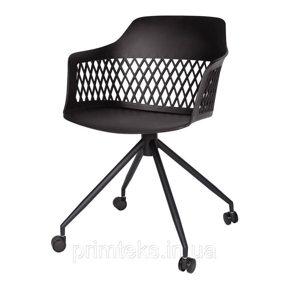 Стул пластиковый LAVANDA ROLL (Лаванда Ролл) на колесиках чёрный