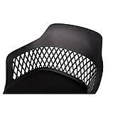 Стул пластиковый LAVANDA ROLL (Лаванда Ролл) на колесиках чёрный, фото 3