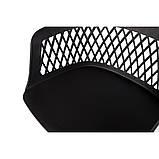 Стул пластиковый LAVANDA ROLL (Лаванда Ролл) на колесиках чёрный, фото 4