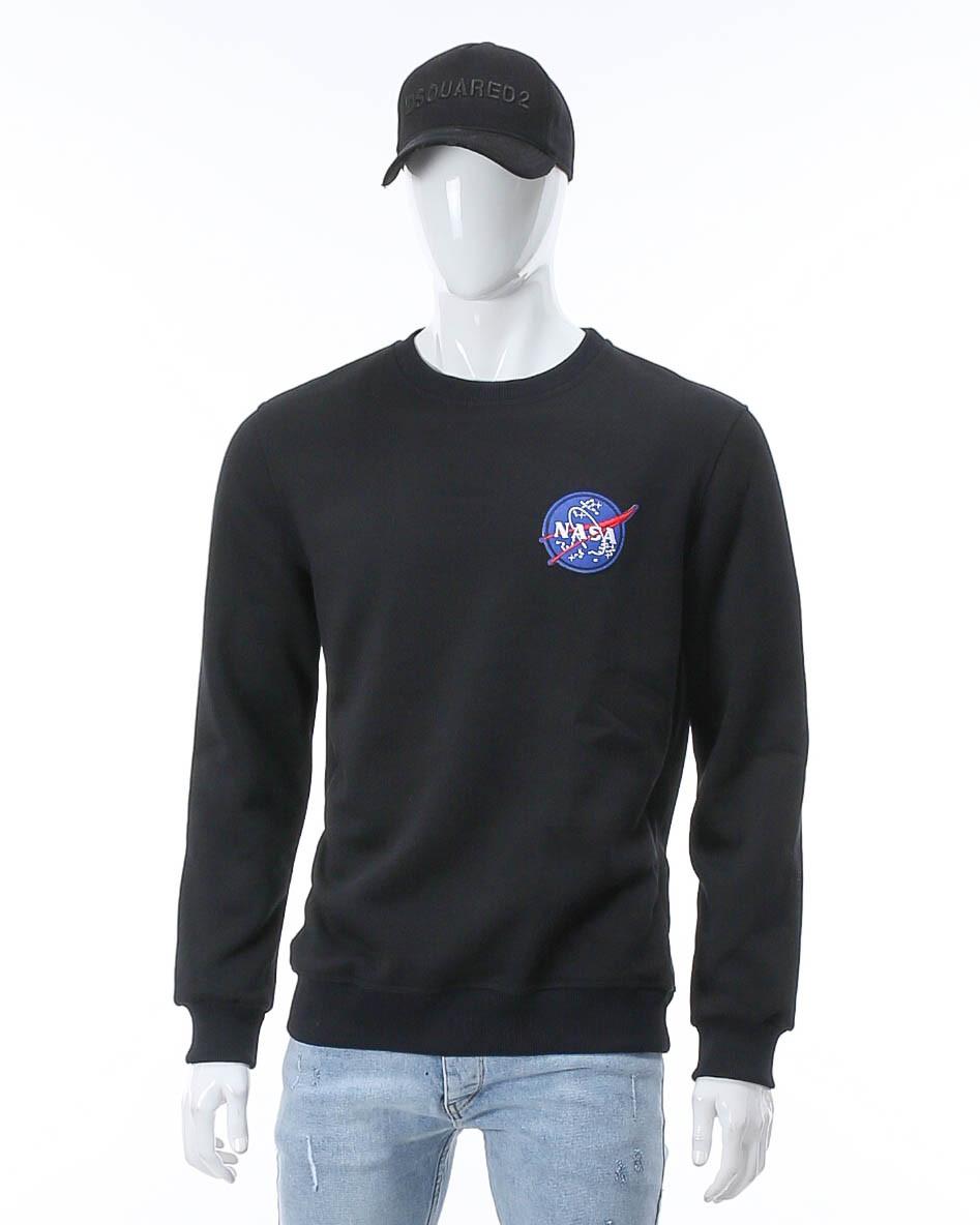 Свитшот осень-зима т синий NASA с патчем DBLU M(Р) 20-540-003