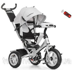 Велосипед детский трехколесный с игровой панелью на руле Turbotrike (Серый)
