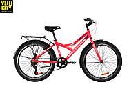 """Велосипед 24"""" Discovery FLINT vbr с багажником розовый"""