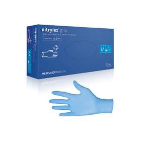 Рукавички НІТРИЛОВІ текстуровані нестерильні неприпудрені 100 шт/пач Mercator gloves nitril