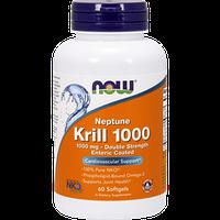Масло криля NOW Krill Oil 1000 double strength 60 softgels омега-3 жирные кислоты