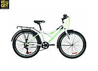 """Велосипед 24"""" Discovery FLINT vbr с багажником бело-зеленый"""