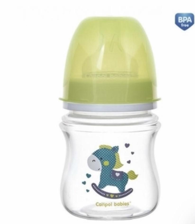 Пляшечка антиколікова з широким горлечком 120 мл салатова Easystart - ToysCanpol 35/220