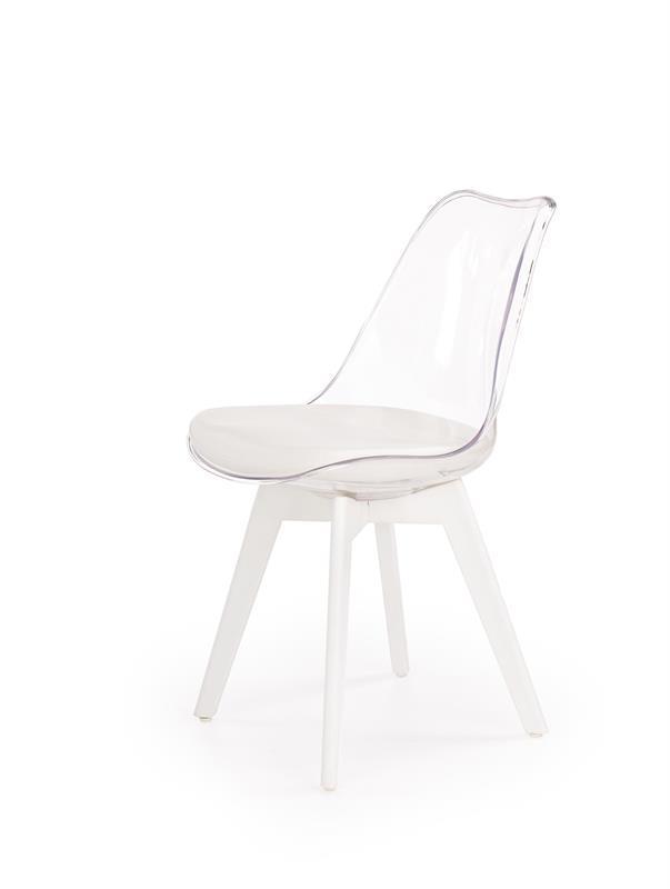 Стул K-245 прозрачный белый (Halmar)