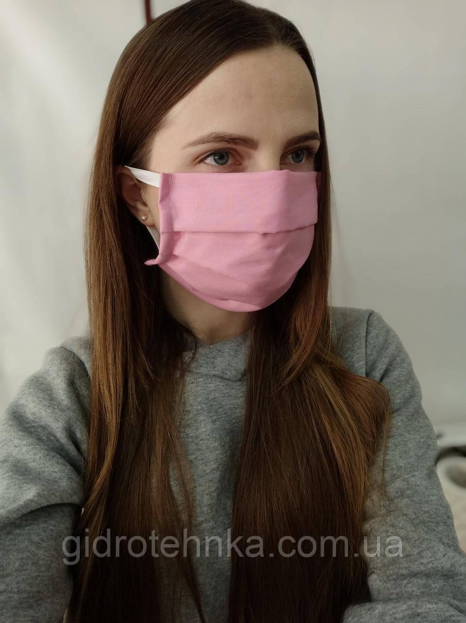 Защитная маска из бязи (мин.заказ 100 шт.)