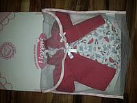 Одежда для детских игровых испанских кукол красная накидка с платьем на вешалке из мягких тканей Llorens 42 cм