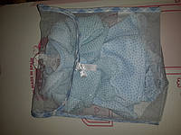 Одежда для детских игровых испанских кукол голубое платье на вешалке из мягких тканей Llorens 33 cм Ллоренс