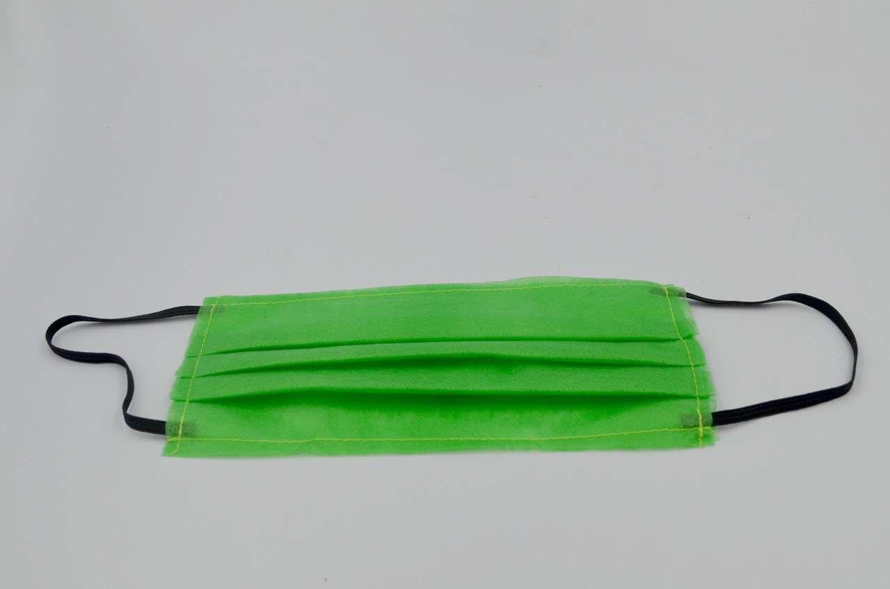 Защитная маска для лица упаковка 500шт. одноразовая 3-х слойная из  материала спанбонд цвет - зелёный