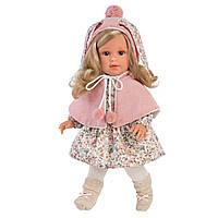 Детская Игровая Испанская Подвижная Кукла для девочек Лючия блондинка с соской 40 см Llorens из винила