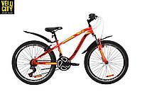 """Велосипед 24"""" Discovery FLINT AM vbr красно-черный"""