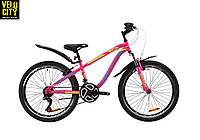 """Велосипед 24"""" Discovery FLINT AM vbr малиновый"""