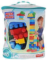 Детский Игровой Развивающий Набор Конструктор Мега Блокс Блок 80 элементов в сумке - Mega Bloks First Builders