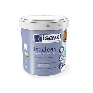 Краска акриловая матовая особо стойкая к пятнам и загрязнениям ИЗАКЛИН ISAVAL 1л до 16м2/слой