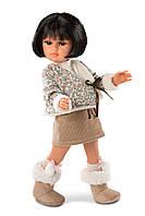 Дитяча Ігрова Рухома Іспанська Лялька Llorens Juan Даніела в костюмі зі спідницею 37 см з твердого вінілу