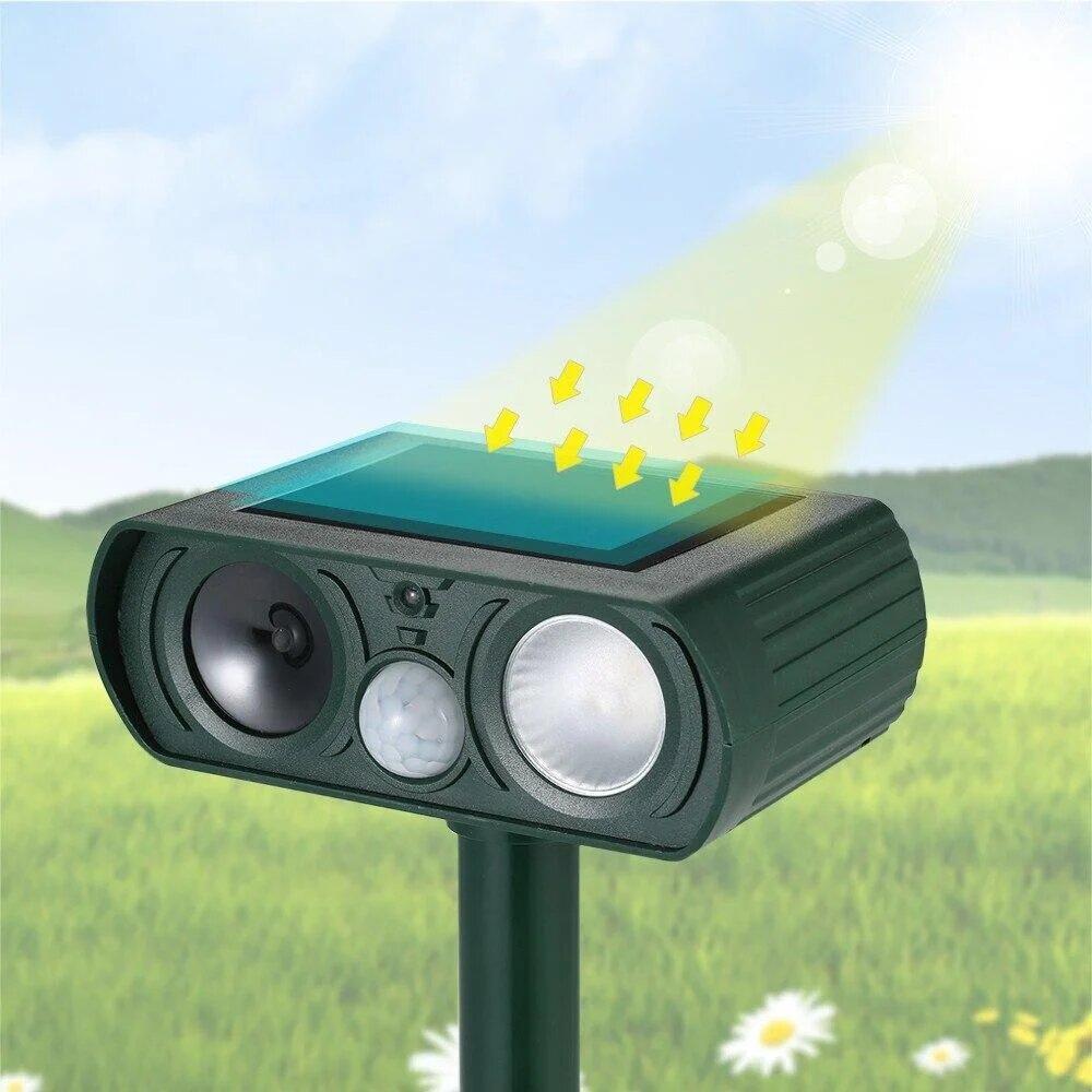Ультразвуковой отпугиватель кротов и животных на солнечной батарее Solar Pest Reppeler Крот HC 19
