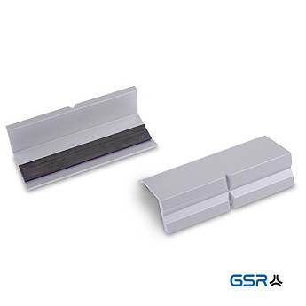 Змінні захисні алюмінієві губки на лещата, з магнітом, комплект 2 шт GSR Німеччина