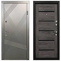 Дверь входная Министерство Дверей  мдф/мдф ПМ-163/161 М стекло антрацит\дуб шале 2050х960мм правая