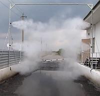 Система дезинфекции высокого давления для автотранспорта. Обработка 180 °