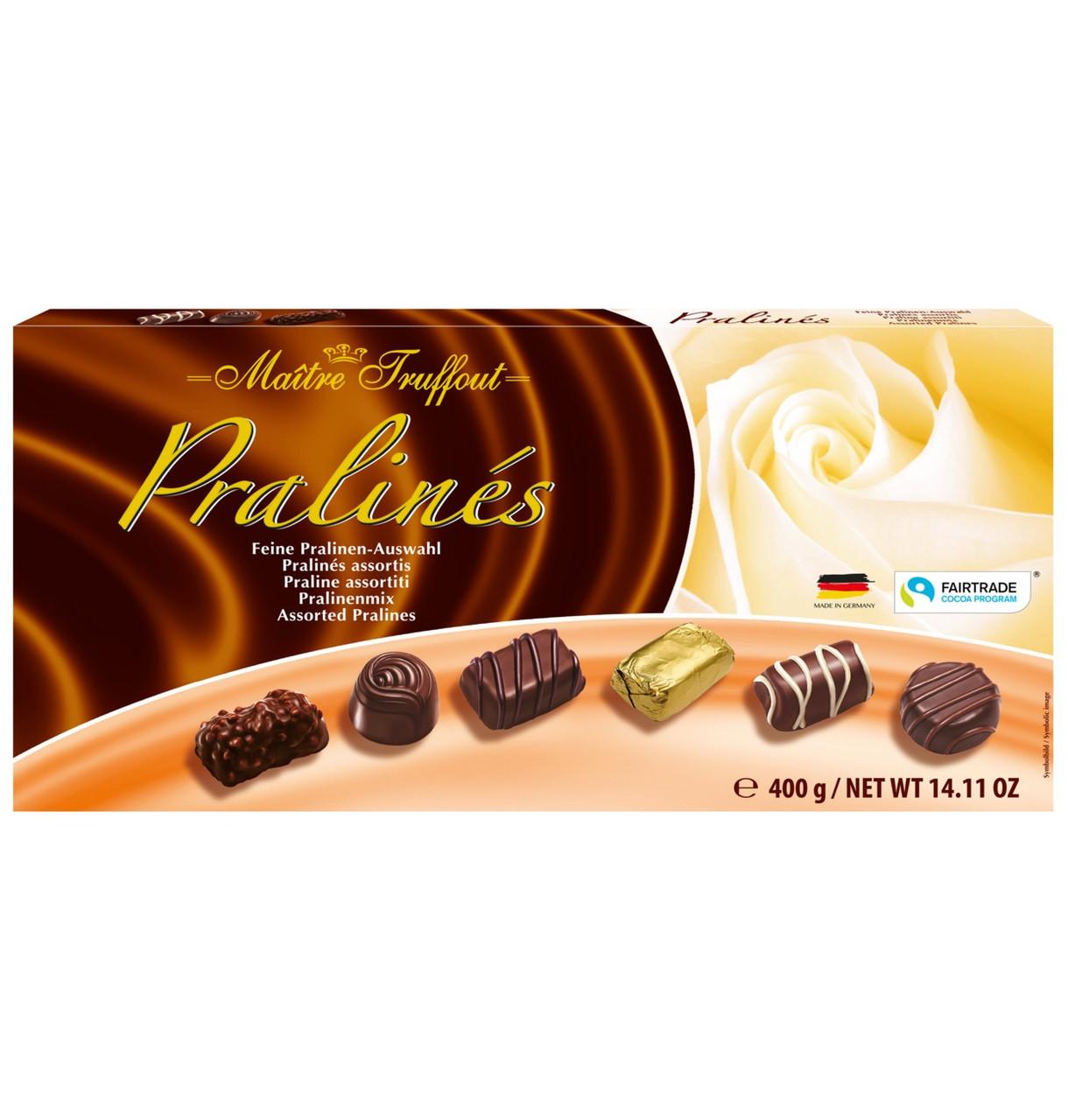 Конфеты шоколадные Ассорти Пралине Maitre Truffout 400 г Австрия