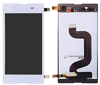 Дисплей Sony Xperia E3 D2202, D2203, D2206 модуль в сборе с тачскрином, белый