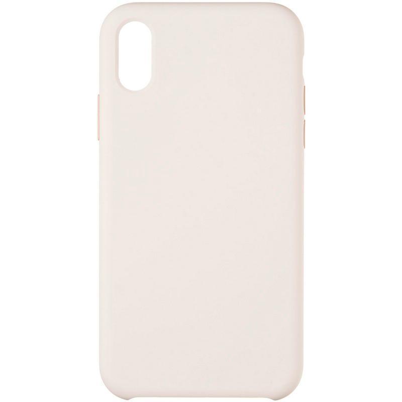 Оригінальний силіконовий бампер Soft Matte Case для iPhone X/Xs Pink Sand