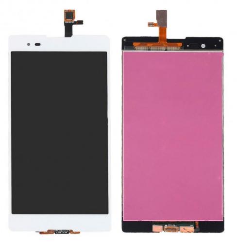 Дисплей Sony Xperia T2 Ultra D5303, D5306, D5322 модуль в сборе с тачскрином, белый, Original (PRC)