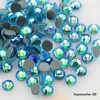 Стразы А+ Премиум, Aquamarine AB SS30 (6,5 мм), термоклеевые. Цена за 1 шт
