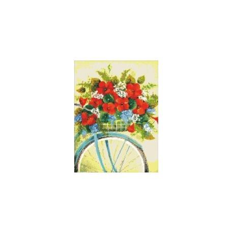 """Алмазна вишивка Ідейка """"Пікнік в Провансі"""", 30*40см, АМ6001"""