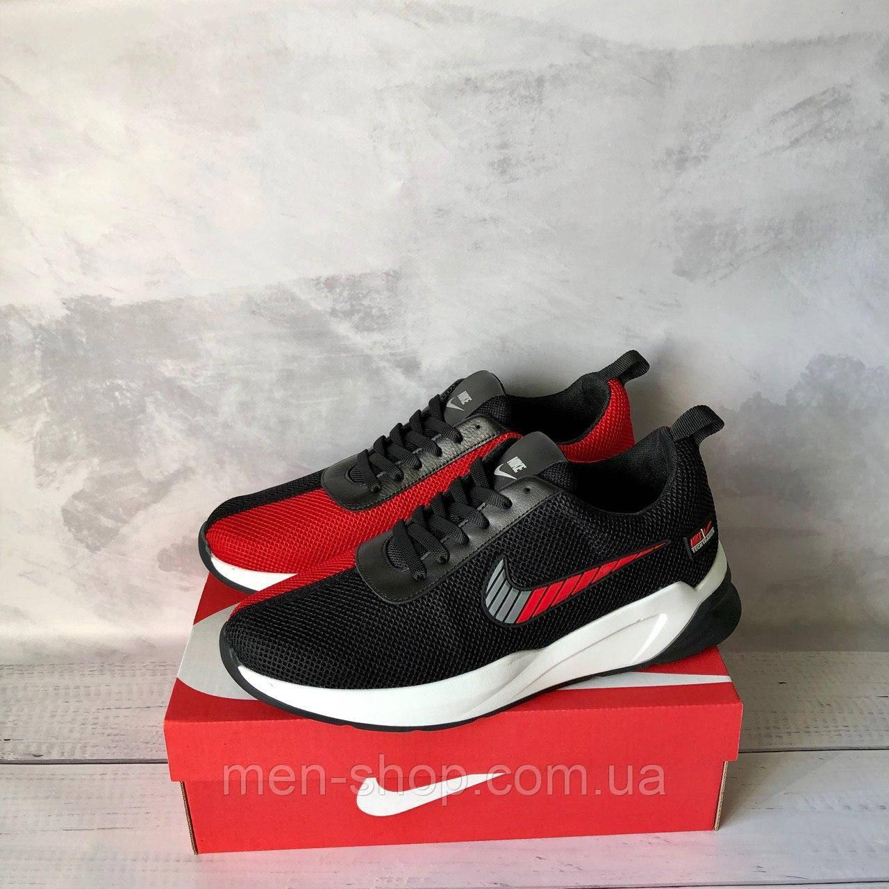 Мужские черно-красные кроссовки в стиле Nike
