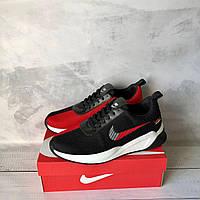 Мужские черно-красные кроссовки в стиле Nike, фото 1