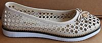Балетки летние кожаные большого размера от производителя модель БР5001Б, фото 1