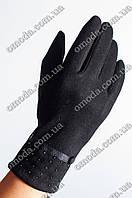 Женские перчатки из стрейча зимние