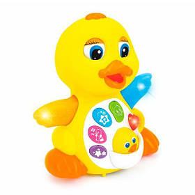 "Музыкальная детская игрушка Hola Toys ""Жёлтый утёнок"" (808)"