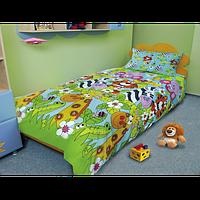 Комплект постельного белья подростковый  «ЗЕБРА-КАЙМАН» дешево, бязь.