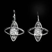 Срібні сережки з цирконом, 506СЦ