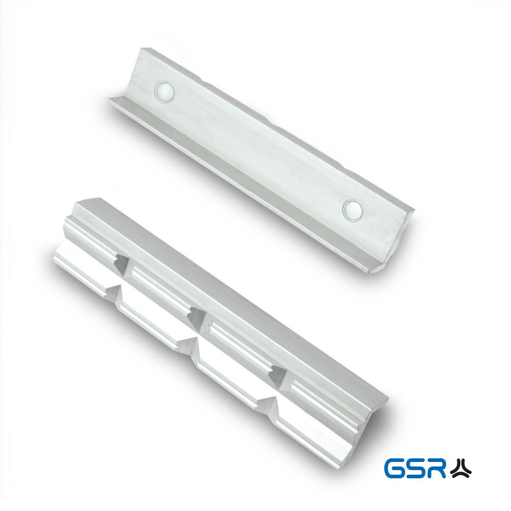 Змінні захисні призматичні алюмінієві губки на лещата, з магнітом комплект 2 шт. GSR Німеччина