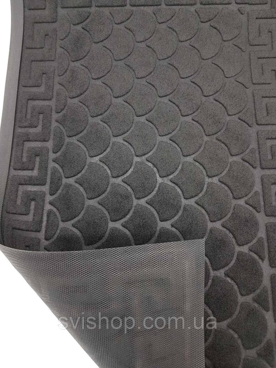 Придверний килимок 45х75см.чорний.