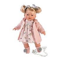 Детская Игровая Испанская Подвижная Говорящая Кукла для девочек Ариана с соской 33 см Llorens из винила