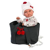 Детская Игровая Испанская Подвижная Кукла для девочек малышка Бимба с соской и сумкой 35 см Llorens из винила