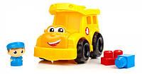 Игровой Детский Конструктор для детей ясельного возраста Школьный автобус 9 деталей Mega Bloks First Builders