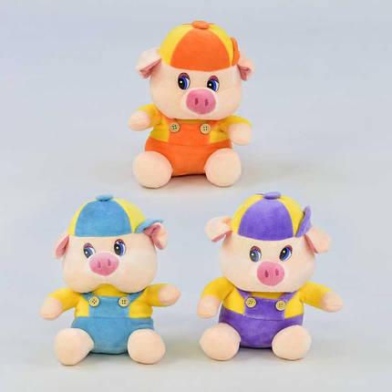 """Мягкая игрушка """"Свинка"""", 3 цвета, C31214, фото 2"""