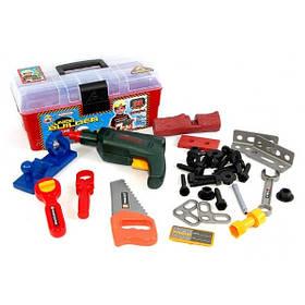Детский Игровой Набор Инструментов MToys, Чемодан + 33 предмета (2059)