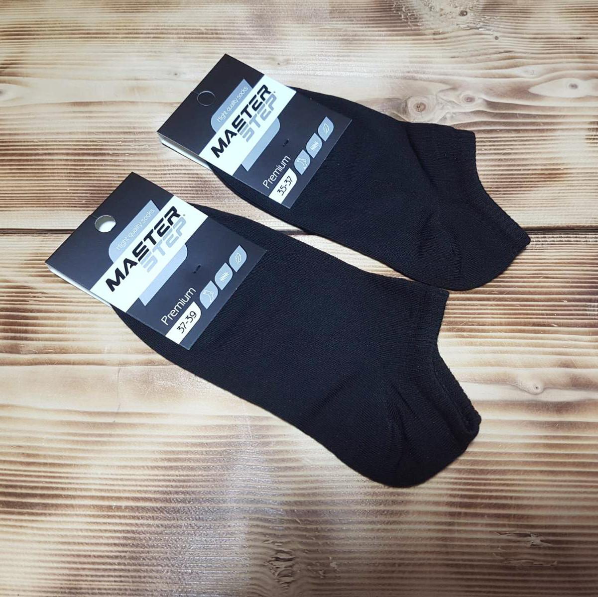 Носок чорний укорочений «Преміум», розмір 35-37
