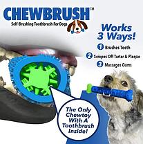 Игрушка для чистки зубов у собак Сhewbrush | Зубная щетка для собак, фото 3